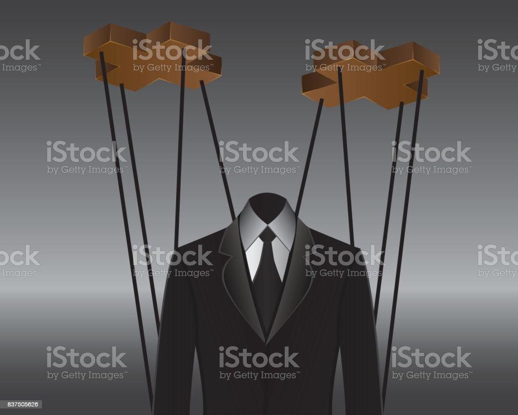 ilustração do governo de marionetes - ilustração de arte em vetor