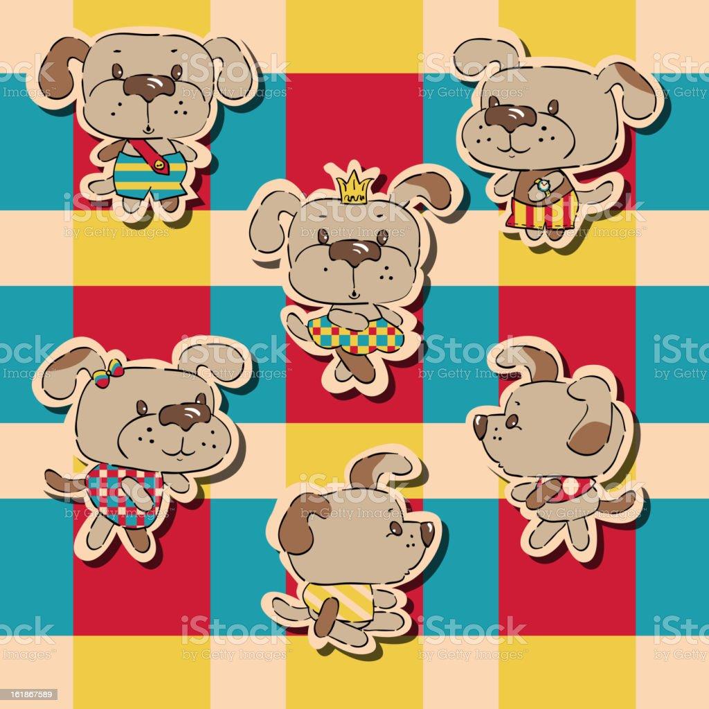 Puppies royalty-free stock vector art