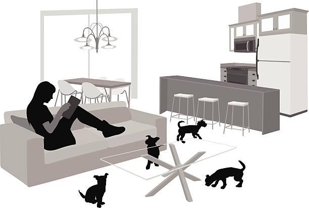 ilustraciones, imágenes clip art, dibujos animados e iconos de stock de puppieseverywhere - animales de granja