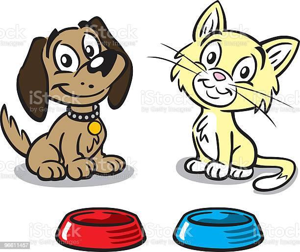 Puppy And Kitten-vektorgrafik och fler bilder på Bortsprunget djur