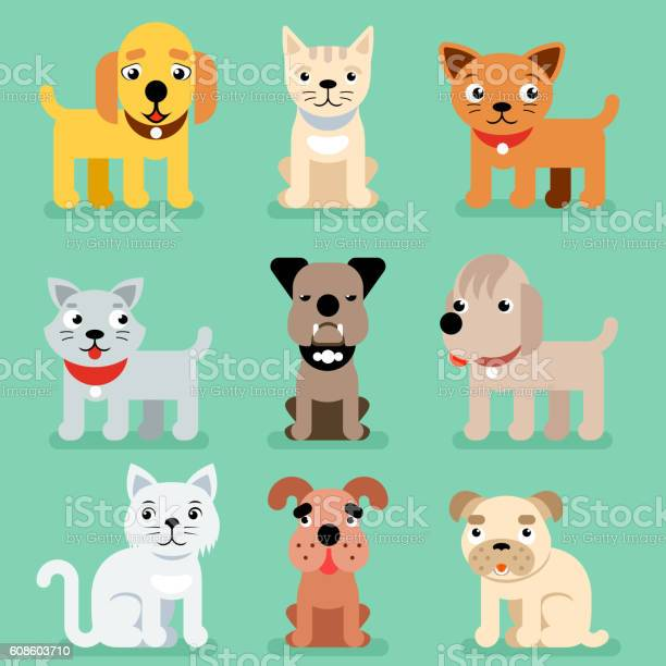 Puppy and kitten vector pet flat icons vector id608603710?b=1&k=6&m=608603710&s=612x612&h=uc98lwxfgjsuec1pgogxwaznmocgicezjocce604z0o=