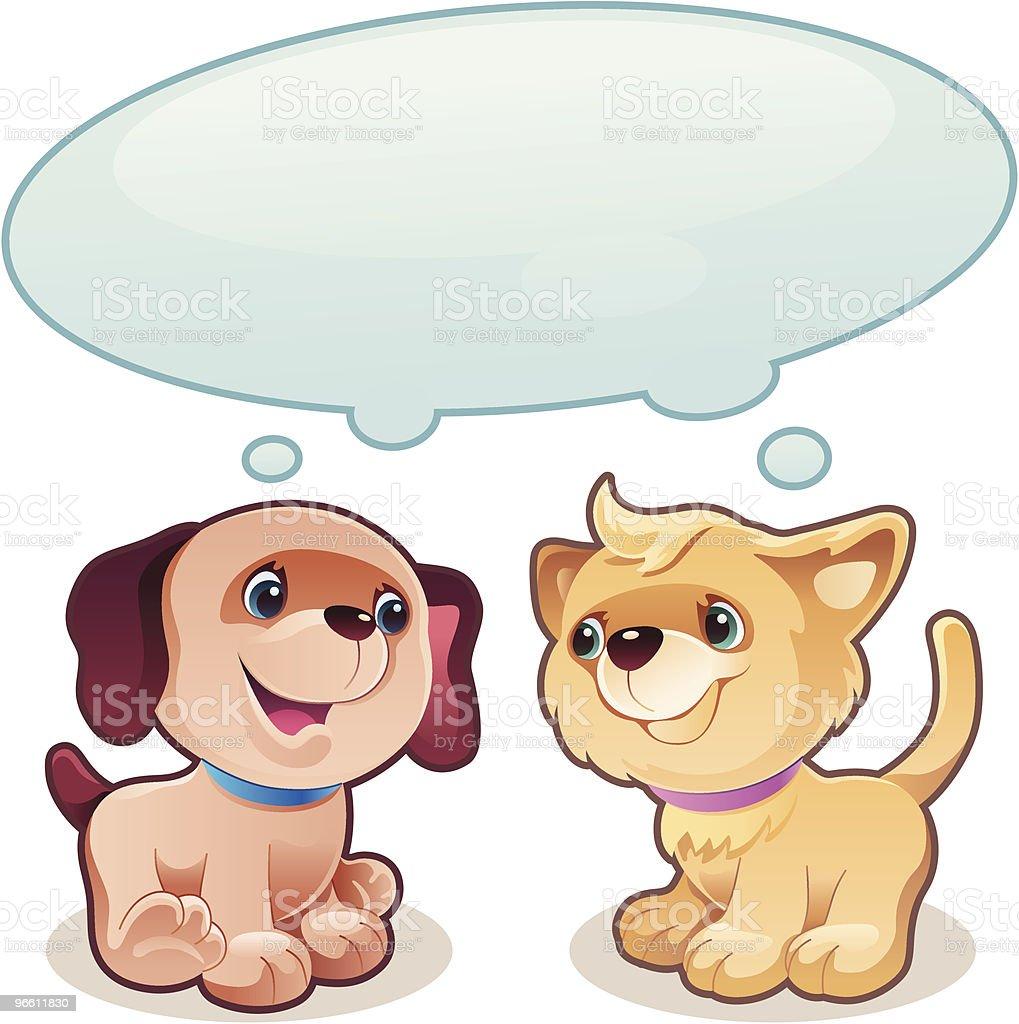 puppy and kitty - Royaltyfri Datorgrafik vektorgrafik