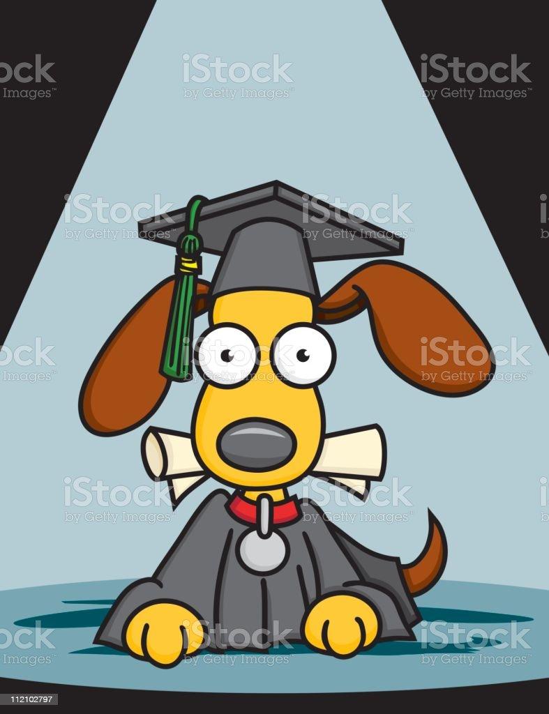 Puppy Graduation royalty-free stock vector art