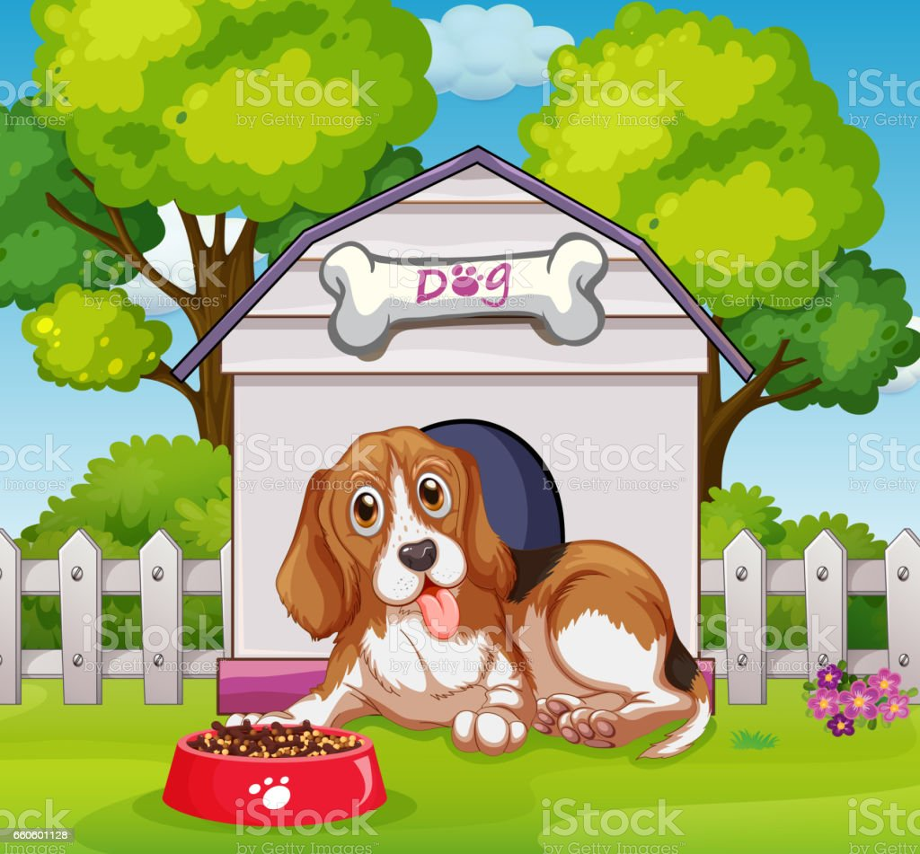 Puppy living in doghouse royalty-free puppy living in doghouse stock vector art & more images of animal