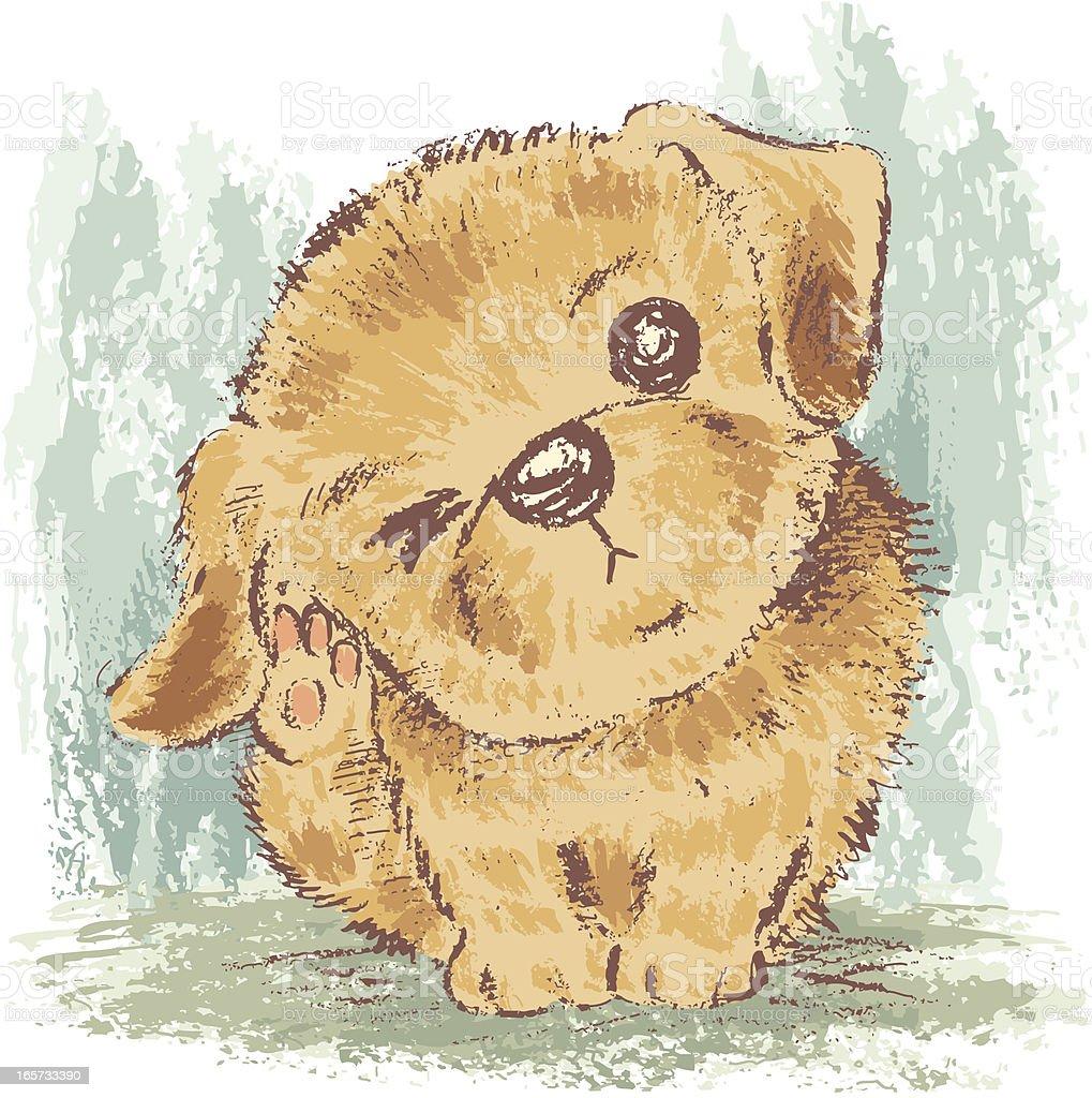 Puppy of Retriever royalty-free stock vector art
