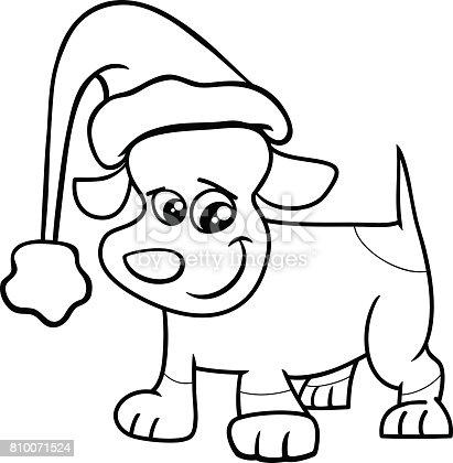 istock perros en el set de Navidad para colorear libro 820869154 ...