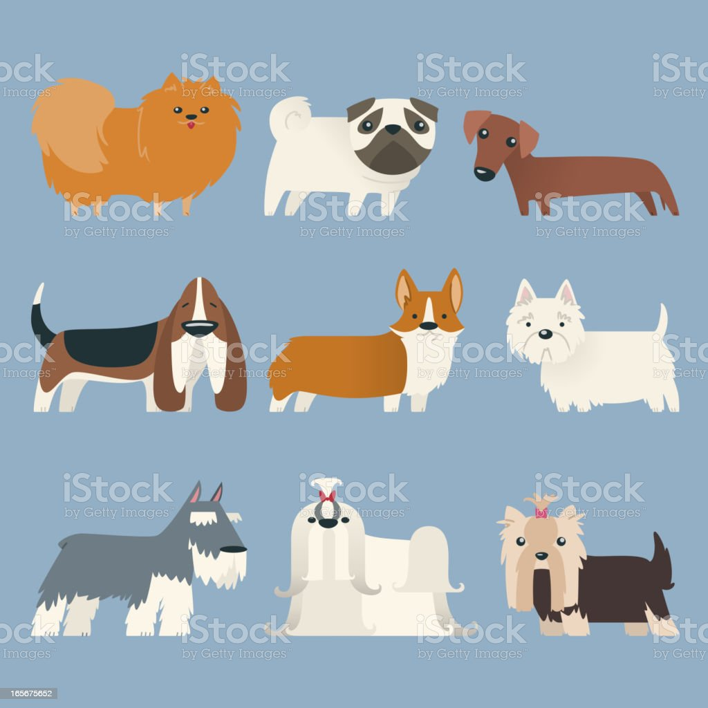 Puppy Pure Breed Exhibition Dog Pet Kennel Pup Whelp Mascot vector art illustration