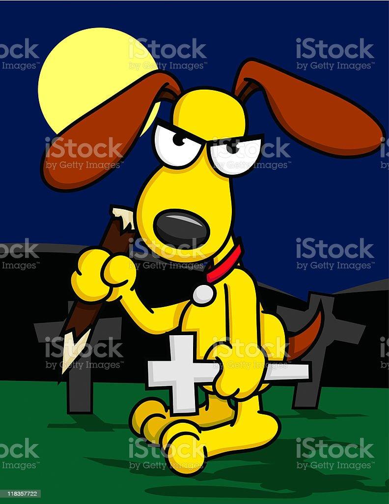 Puppy the Vampire Slayer royalty-free stock vector art