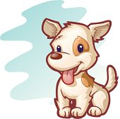 an illustration of a puppy.