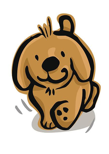 Pie de cachorro y viene - ilustración de arte vectorial