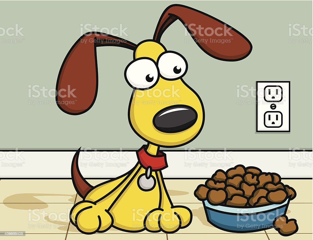 Puppy with Food royalty-free puppy with food stock vector art & more images of animal