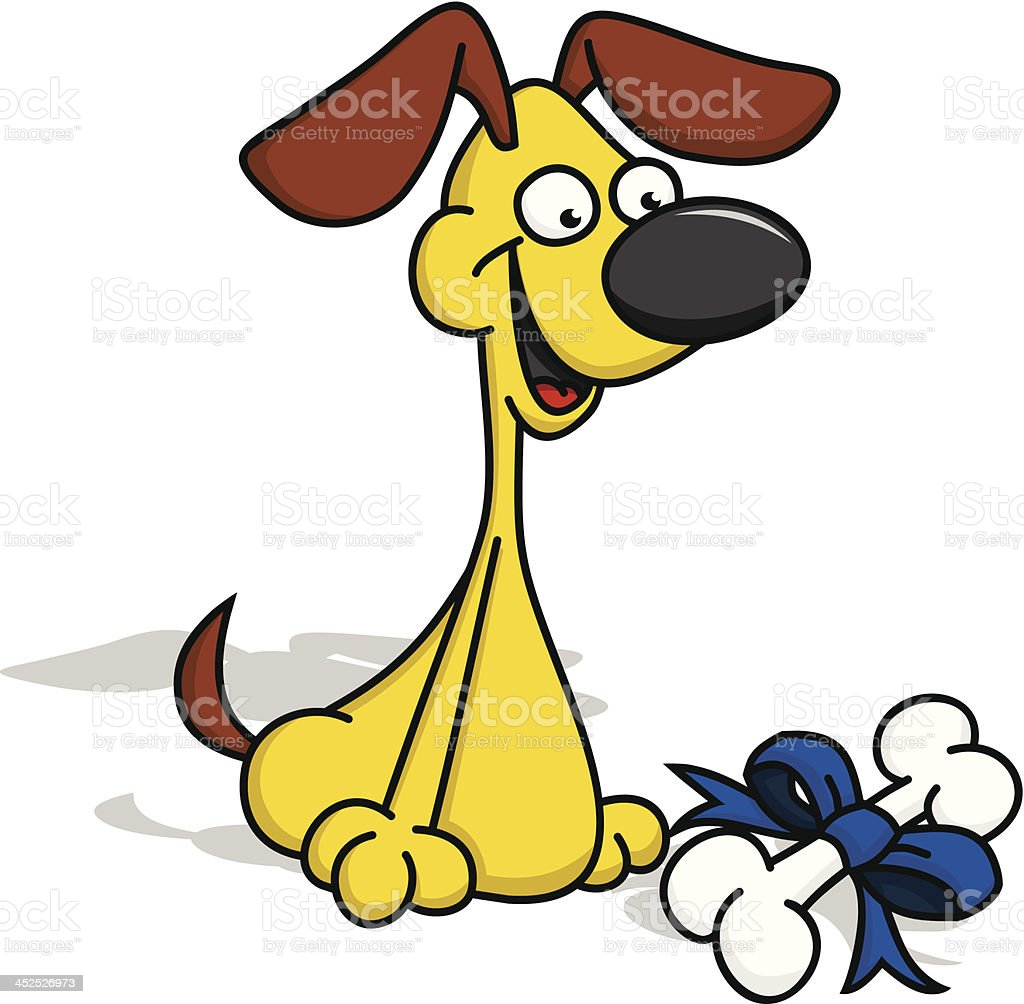 Puppy with Gift Bone royalty-free puppy with gift bone stock vector art & more images of animal