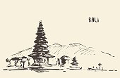 Pura Ulun Danu Bratan Hindu temple Bali Indonesia.