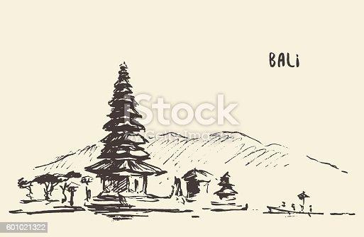 Line Drawing In Java : Pura ulun danu bratan hindu temple bali indonesia stock