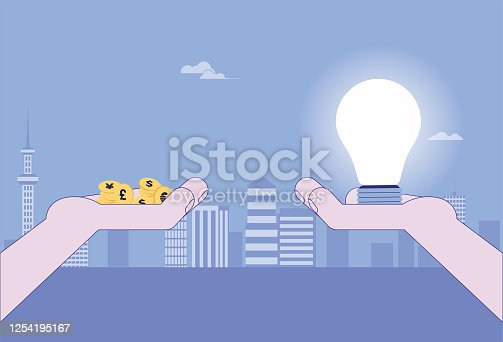 Coin,Currency, Bulb, ,Ideas,Inspiration, Wealth,