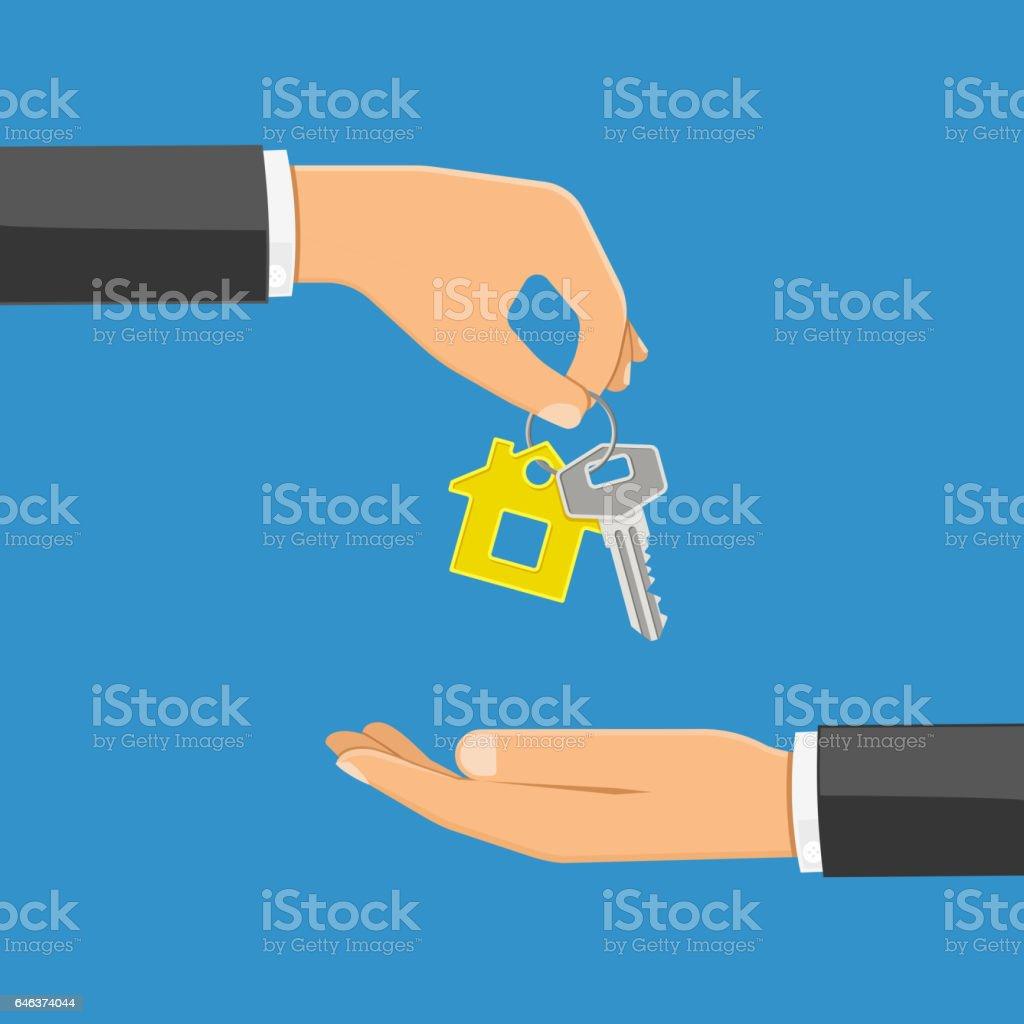 conceito de compra ou aluguel de imóveis - ilustração de arte em vetor