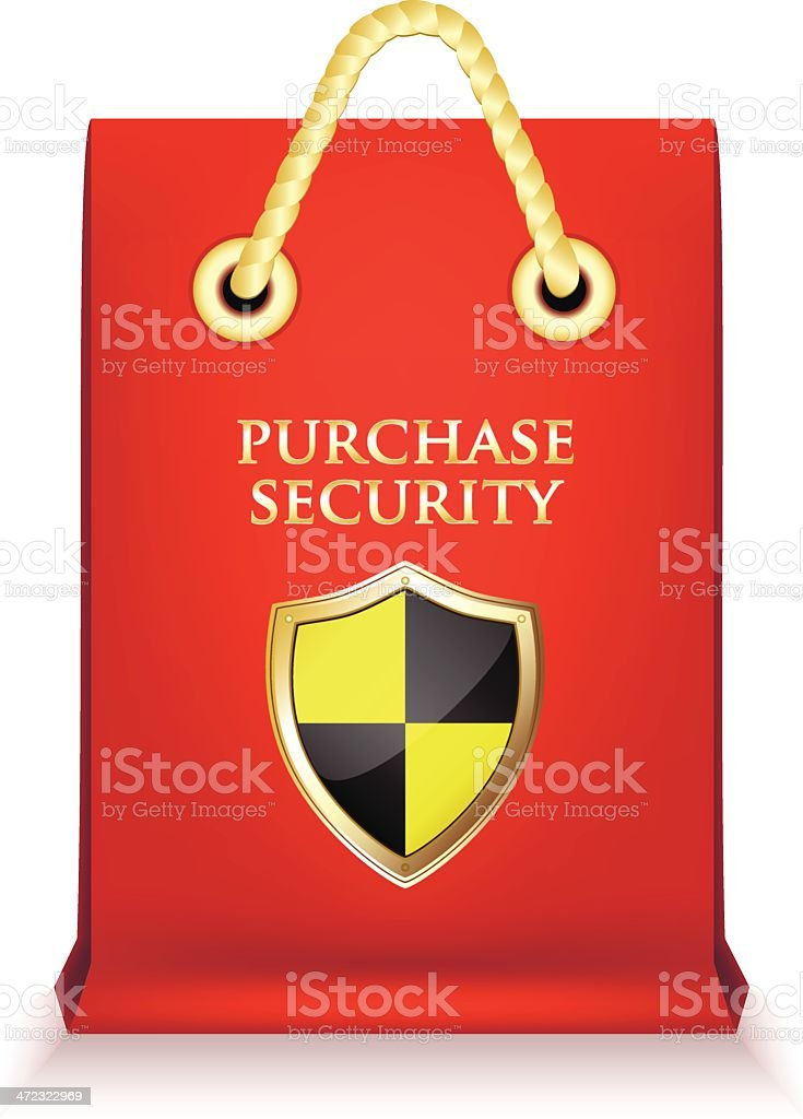 Purchase Security Shopping Bag royalty-free stock vector art