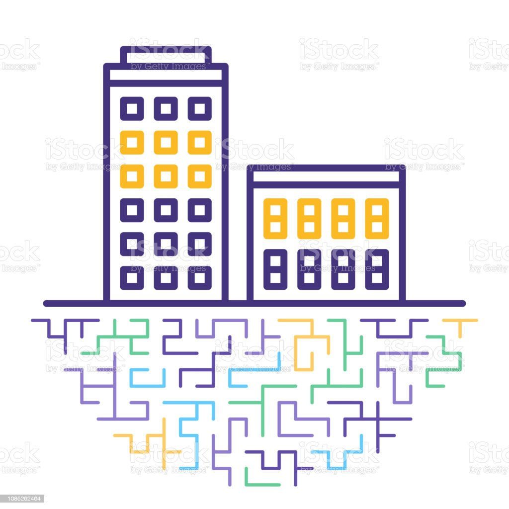 Purchasing Property Line Icon Illustration vector art illustration