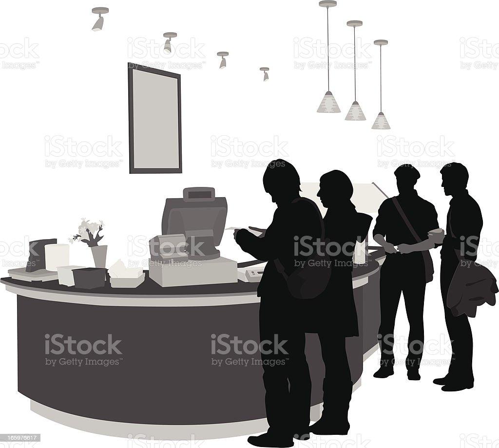 Purchasing Vector Silhouette vector art illustration
