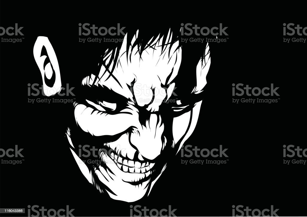 Pure evil vector art illustration