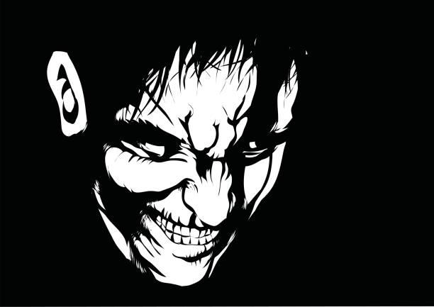Pure evil vector art illustration
