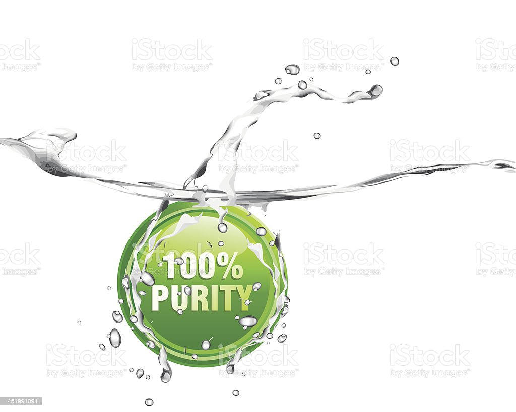 pure water royalty-free stock vector art