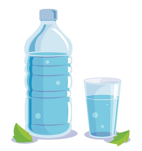 czysta wody - kieliszek stock illustrations