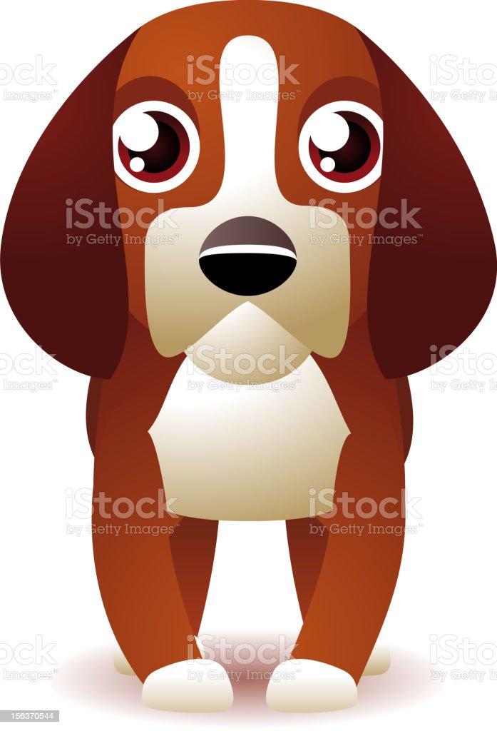 Purebred Beagle Dog Stanging royalty-free purebred beagle dog stanging stock vector art & more images of animal