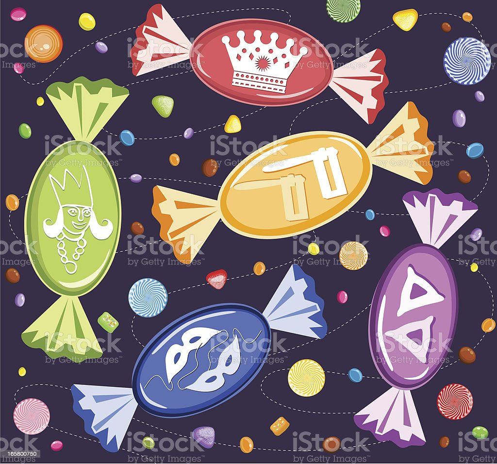Purim Candies royalty-free purim candies stock vector art & more images of bubble gum