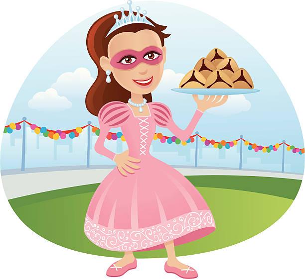 purim carnival - princess - purim stock illustrations, clip art, cartoons, & icons