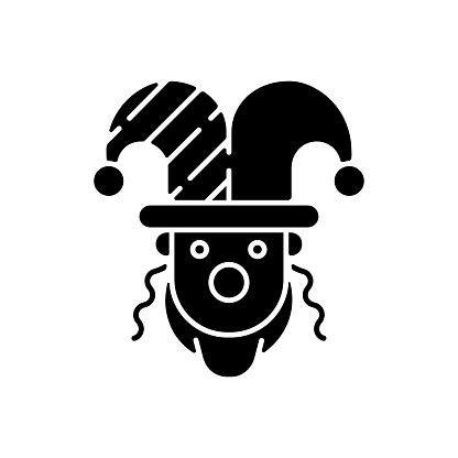 Purim celebration black glyph icon