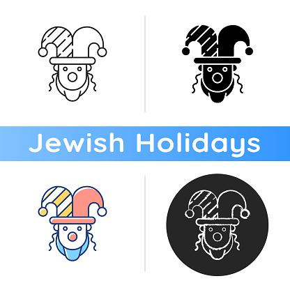 Purim celebration icon