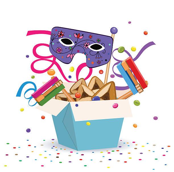 purim gifts - purim stock illustrations, clip art, cartoons, & icons