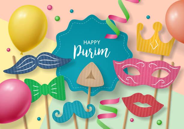 purim holiday concept - purim stock illustrations, clip art, cartoons, & icons