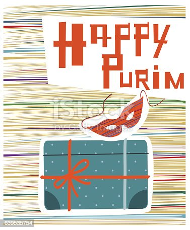 Purim Symbols And Text Happy Purim Stock Vector Art More Images Of