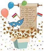 istock Purim,Megillah, Rattle, Hamantaschen, 464697372