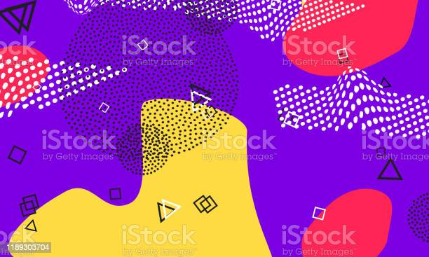 Purple 90s Wallpaper Simple Template Coral Stock Illustration Download Image Now Istock