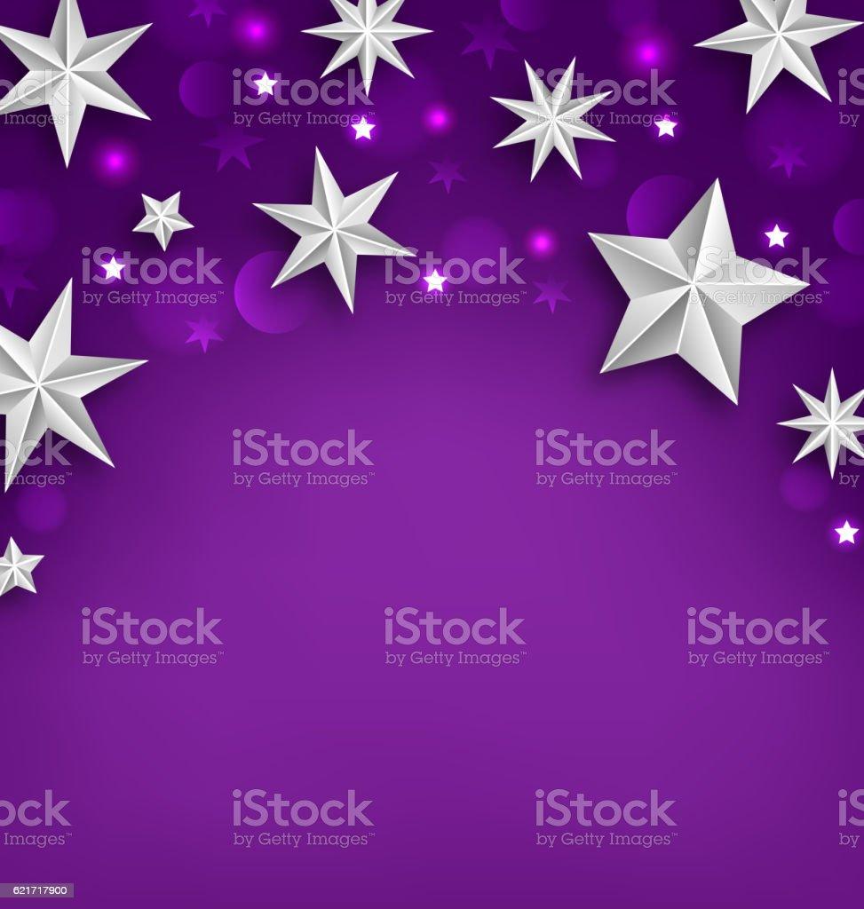 Purple Abstract Celebration Background With Silver Stars Stock Vektor Art Und Mehr Bilder Von Abstrakt