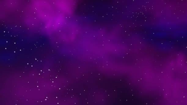 ilustrações de stock, clip art, desenhos animados e ícones de purple and blue dark starry space. vector background of colorful nebula. - céu a noite