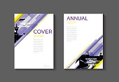 purple and yellow  modern  cover book Brochure template, design, annual report, magazine and flyer layout Vector a4