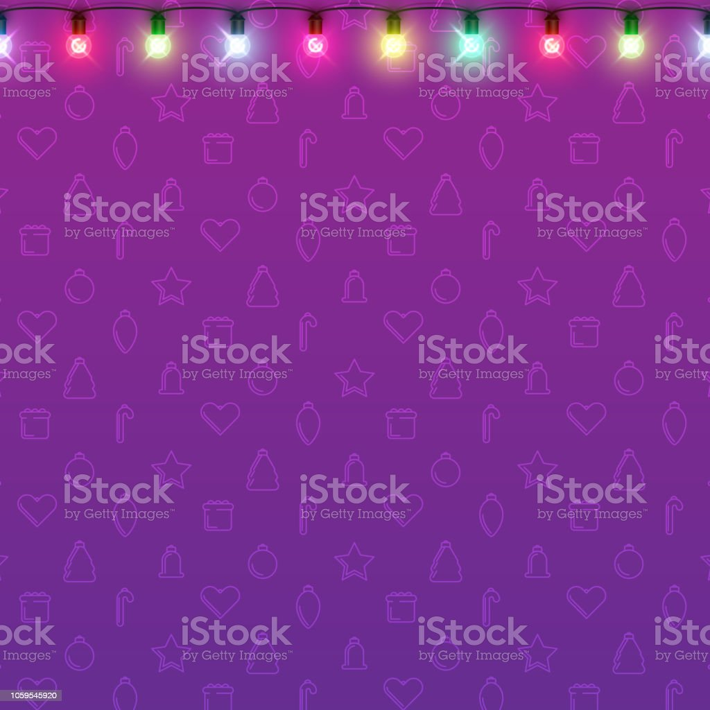 purple background with decorative lanterns for christmas and new year design royalty free purple