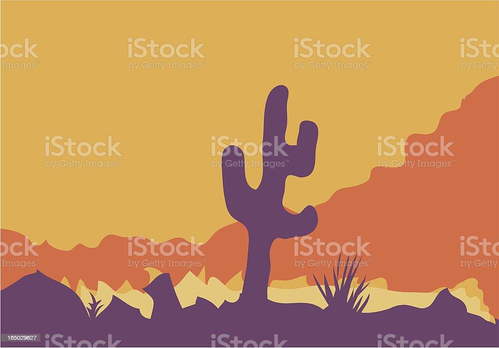 Purple Cactus vector art illustration