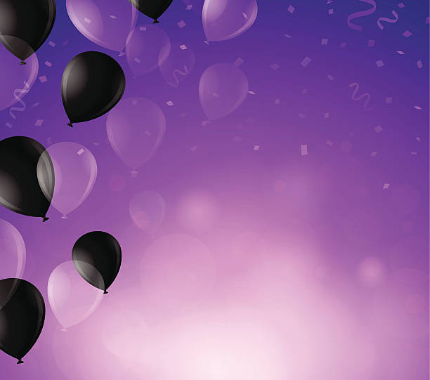 purple celebration background - office party stock illustrations, clip art, cartoons, & icons