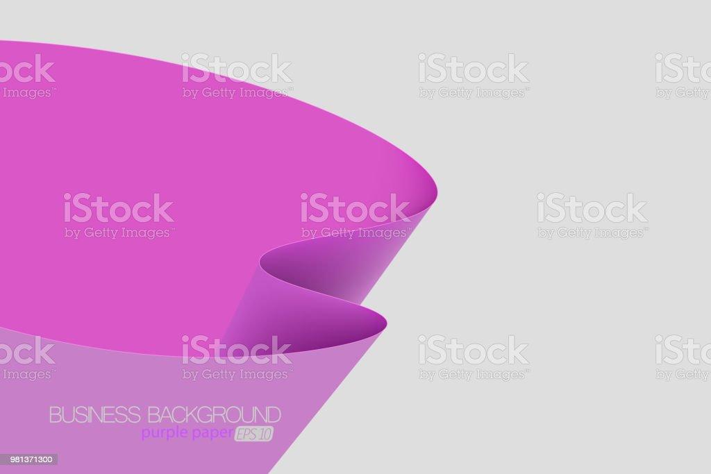 Purple color paper concepts vector art illustration