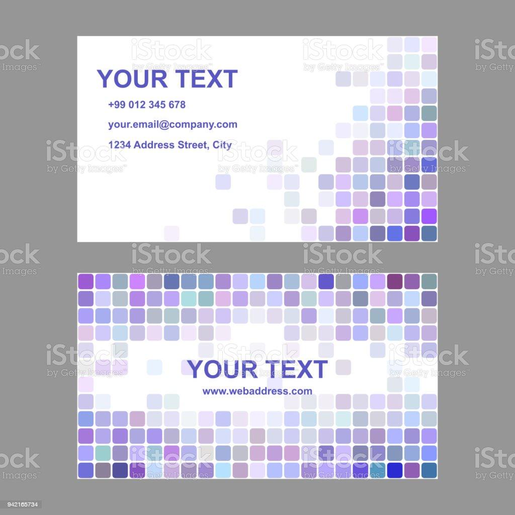 Modele De Carte Visite Coloree Violet Vecteurs Libres Droits