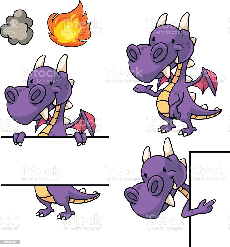 Purple Dragon Frame And Border Stock Vector Art & More Images of ...