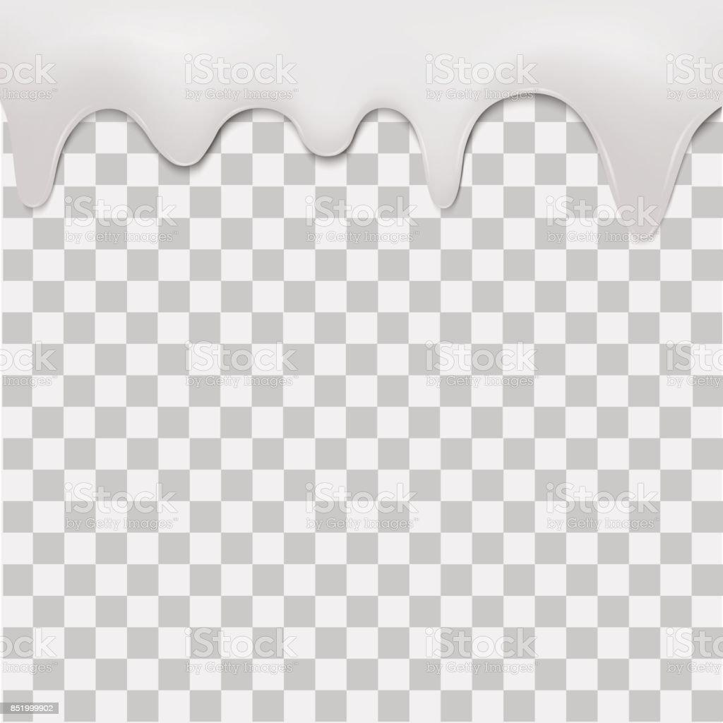 Purple Dripping Cream On Transparent Background Vector