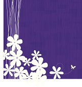 Purple vector floral background.