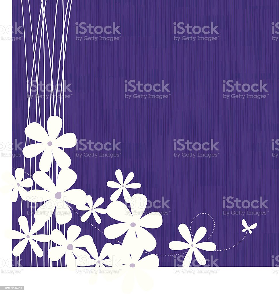Purple floral background vector art illustration