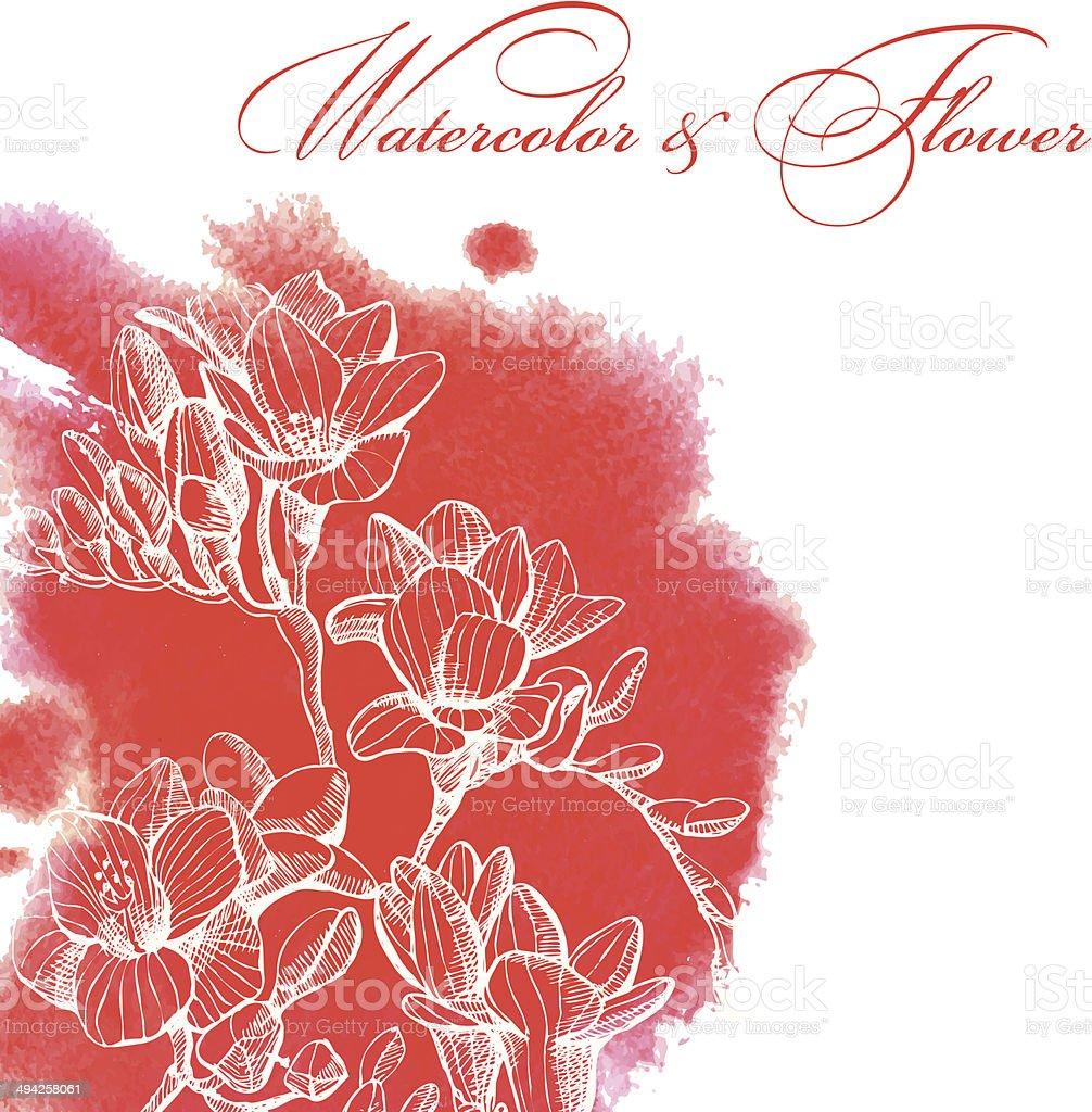 purple flower royalty-free stock vector art